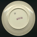 back of Amherst College china plate