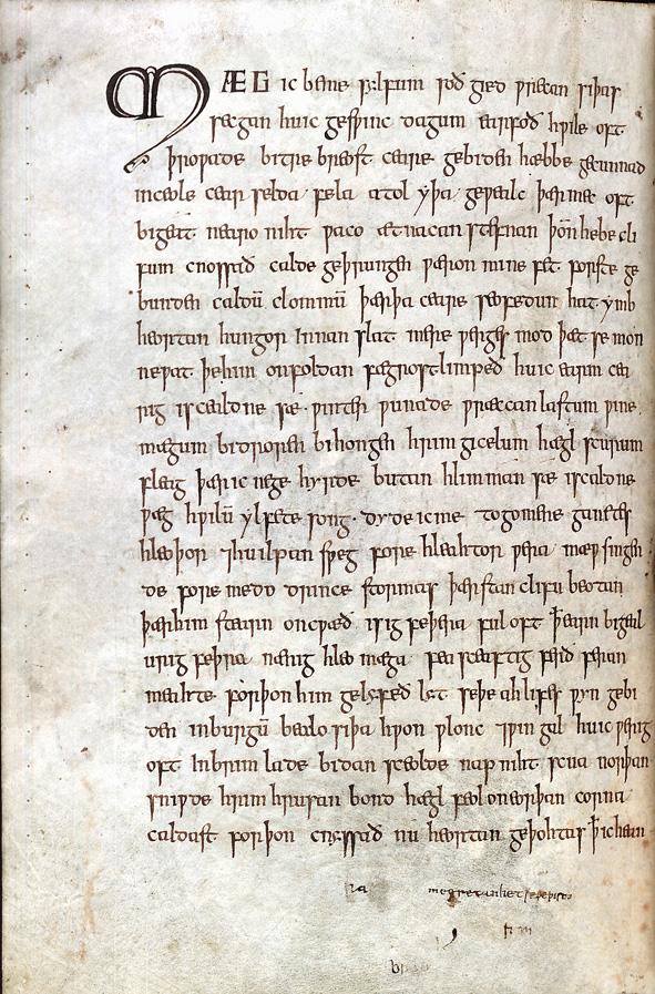an analysis of the anglo saxon poems beowulf the seafarer and the wanderer Anglo-saxon poetry (or old english poetry) encompasses verse written during  the  and the wisdom poetry found in the exeter book such as the seafarer, and  the wanderer  by the anglo-saxons, everything we know about it is based on  modern analysis  beyond beowulf, other heroic poems exist.
