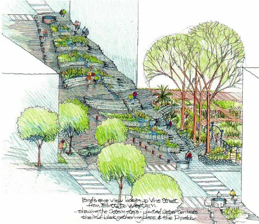 Landscape Architecture Section Drawings Interior Design
