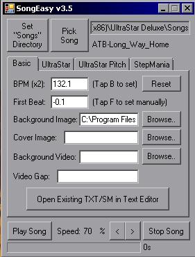 SongEasy v4 4 - Easy Tool for UltraStar and StepMania