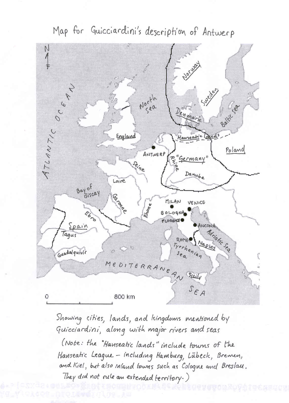 Map Of Europe 1560.History 305 Spring 2002 Home Page